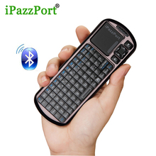 iPazzport Wireless Mini Bluetooth Keyboard Mouse Touchpad For Windows Android iOS Tablet PC HDTV Google TV Box Media Player