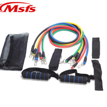11 Pcs/Set Latex Resistance Bands Yoga Pilates Crossfit Fitness Equipment Sport Pull Rope Workout Resistance Exercise Latex Tube