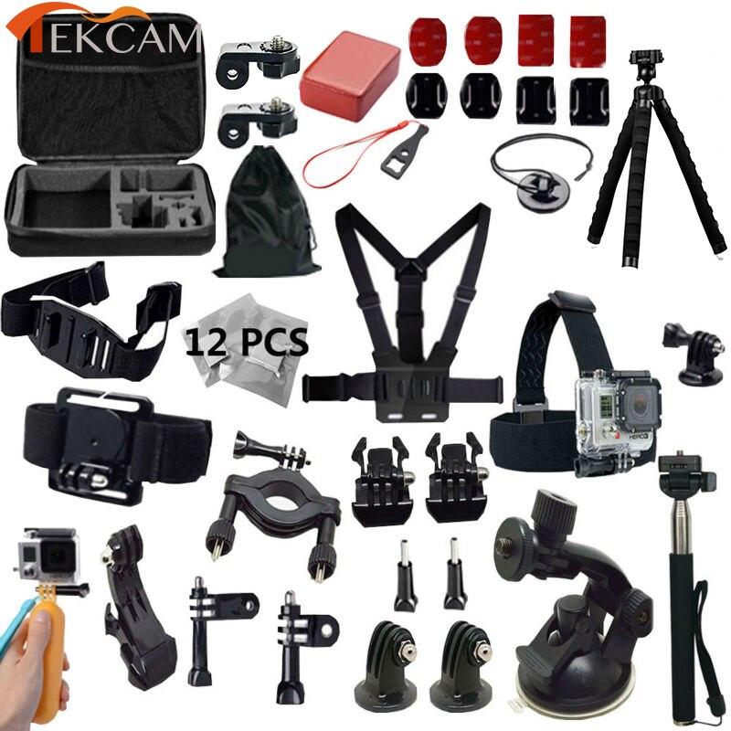 For Gopro Accessories Gopro hero4 kit mount Gopro Hero 5 4 session 3+ SJ4000 SJ5000 sj7000 xiaomi yi 2 4K Gitup Sony Action Cam<br>