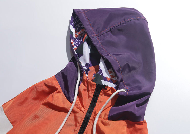 Color Block Patchwork Hooded Jackets 2