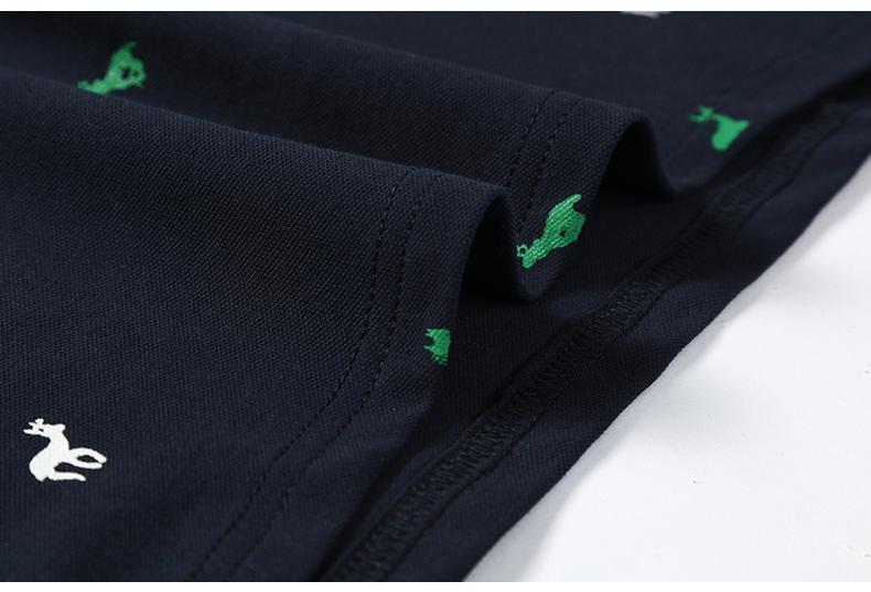 2Pcs Lot Mens  Shirt Coon Polka Dot Summer Short 3XL Male  Men Top Tees Cool Muls Brand Clothing Navy Black White Gray-04