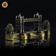 Decorative Gift Item Metal Carft London Bridge Model Toy Famous Building Bronze Home Office Desk Decor
