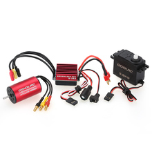 GoolRC S2440 4000KV Brushless Motor S-35A ESC with 3.5kg Servo Upgrade Brushless Combo Set for 1/16 RC Car Truck