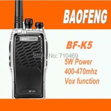 DHL Freeshipping+2015 New Arrival baofeng bf-k5 walkie talkie 10km UHF Waterproof Professional FM Transceiver walky talky