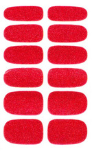 Adhesive Nail Art Stickers Sexy Red Glitter Shining Nail Wraps Decals Solvent Resistant Acrylic Nail Polish Stickers New(China)