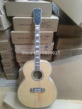 "2017 New + Factory + Chibson J200 Deluxe acoustic guitar jumbo 43"" J200 guitar flame maple J200NA acoustic guitar (add hardware)(China)"