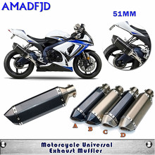 Buy Modified Motorcycle Universal RACING Akrapovic Exhaust Pipe Muffler Scooter GP Pipe Dirt Bike MotorBike for $70.10 in AliExpress store