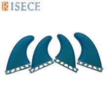 New design future fiberglass honeycomb surfboard fins quad surf futures G5 side fin+G3 center fins set up