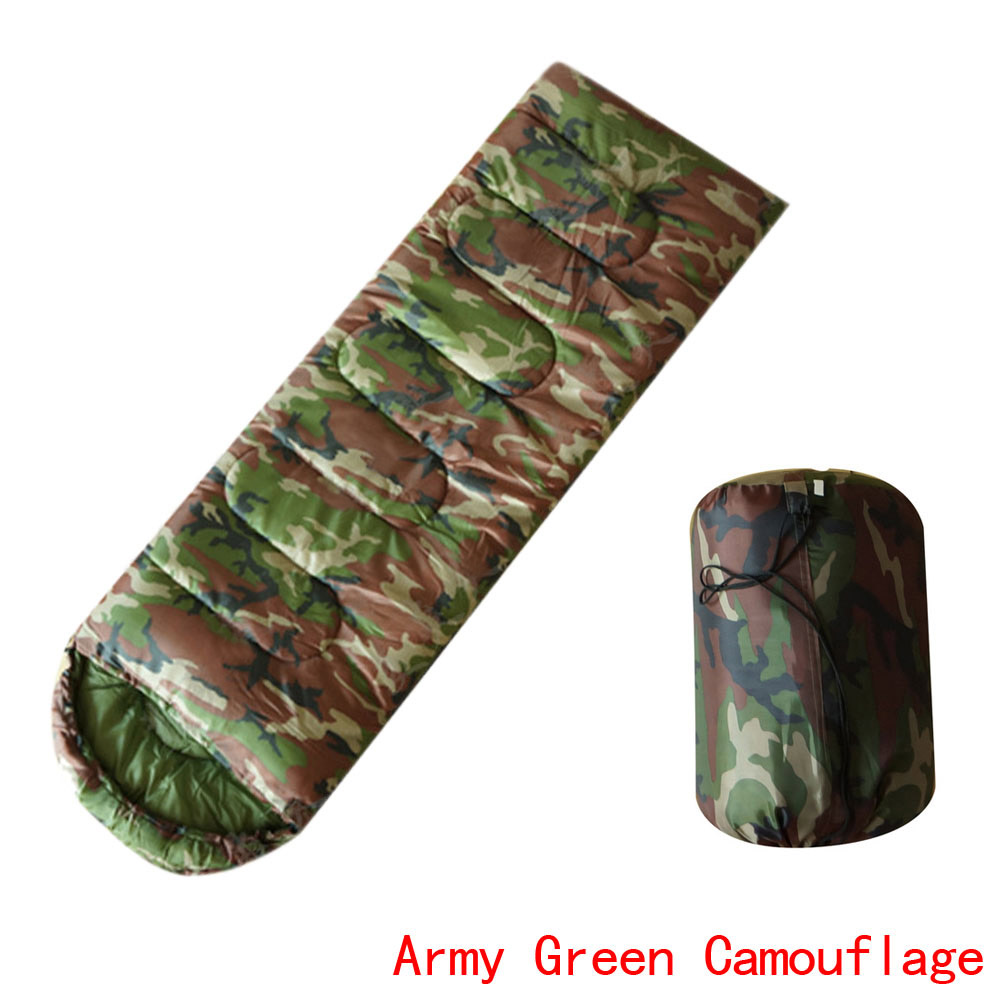 Outdoor Envelope Military HoodedSleeping Bag Camping Army Green Camouflage  backpacking,biking,camping lightweight Easily rolls<br><br>Aliexpress