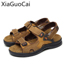 American Made Top Quality Men Sandals Yellow Genuine Leather Europe Style Male Sandals Leather Sandals 1376 35(China)