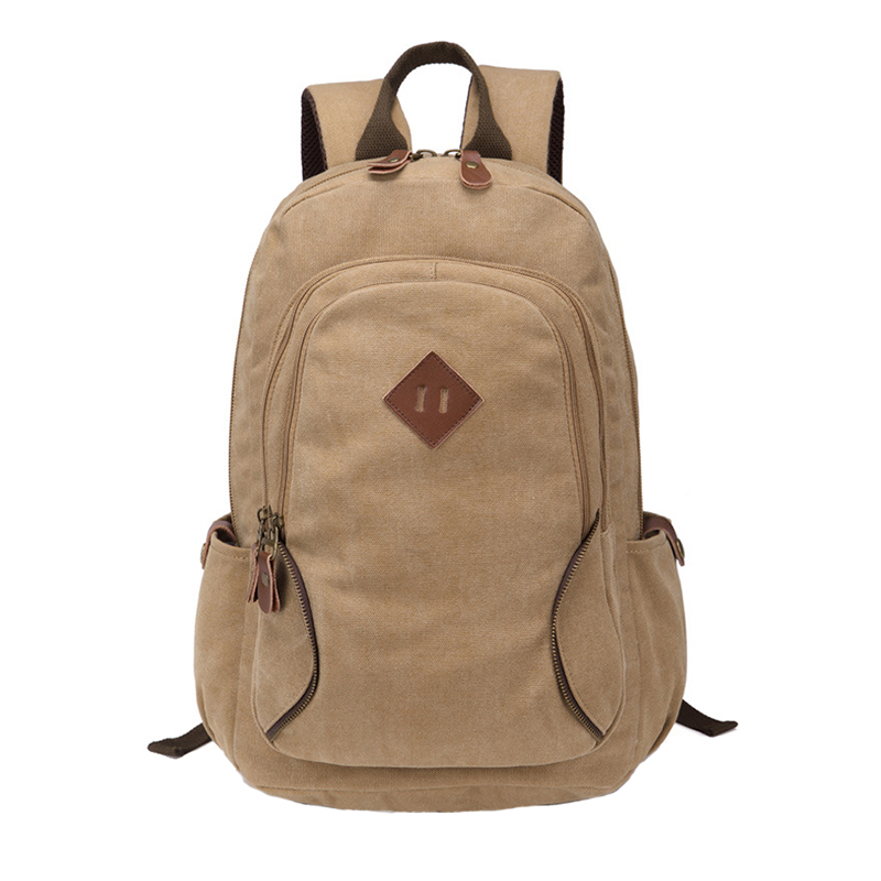 Thick canvas backpack solid casual bag male backpack school bag canvas bag designer backpacks for men women sac a dos<br><br>Aliexpress