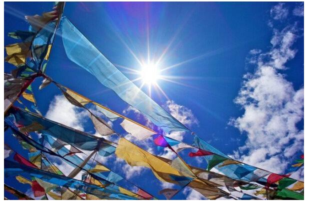 Drapeau banderole Tibetain 5 couleur | OkO-OkO