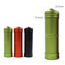 Waterproof Outdoor Hiking Outbreak Aid Emergency Medicine Aluminum Alloy Sealed Can Bottles Keychain EDC Survival Equipment BS