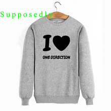 New Fall and Winter Women Band I Love One Direction 1D ROck Hooded Casual Women Men Harajuku Printed Sweatshirts(China)