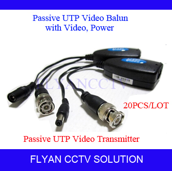 20pcs new 1ch passive video balun with power audio for CCTV Camera passive RJ45 UTP CAT5 cable<br><br>Aliexpress