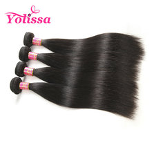Yolissa Brazilian Virgin Hair Bundles Straight Hair Weave 1 Piece Only Natural Black Free Shipping(China)