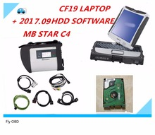 Top Mercedes MB Star SD C4 full set with 2017.09 Version SoftwareHDD+laptop CF19 MB STAR C4 diagnosis compact 4 dianostic tool(China)
