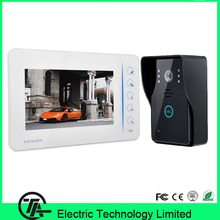 "Good quality 7"" TFT color LCD video doorphone one to one intercom system with night vision IR camera 807MJ11 video door bell(Hong Kong)"