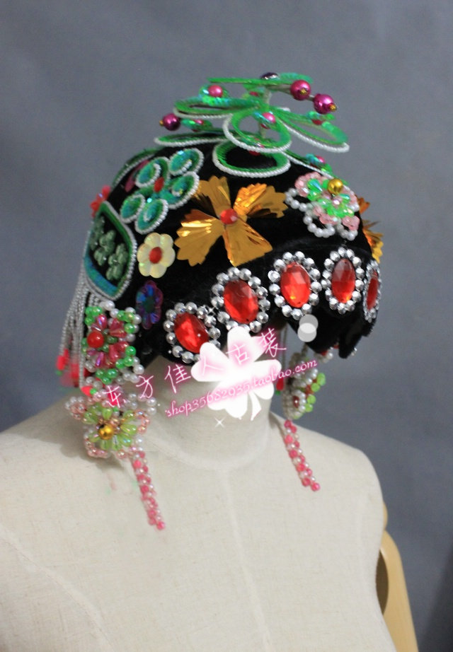 Wigs show props hair accessory bud head accessories hair accessory peking opera actress hair jewelry hair tiaras<br>