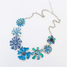 Maxi Necklace Jewelry For Women Fashion Necklace Hot Sunflowers Color Drip Flowers Clavicle Chain Charm Necklace Gift