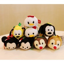 TSUM TSUM Christmas Mickey Minnie Mouse Chip Dale Pluto Goofy Daisy Donald Mini Plush Toy Kids Girl Birthday Gift Phone Creamer(China)