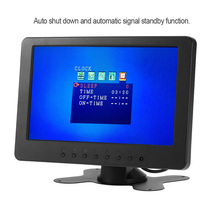 S701 7 inch TFT LCD Monitor Screen 16:9 1024 * 600 BNC AV Video Audio for PC Security VCD DVD EU/US Plug(China)