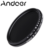 Andoer 55mm ND Fader Neutral Density Optical resin glass Adjustable ND2 to ND400 Variable Filter for Canon Nikon DSLR Camera