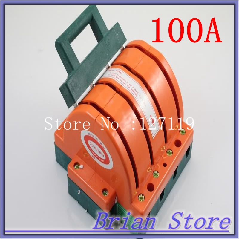 Heavy Duty 4Poles Double Throw Electronic Circuit Opening Load 4PDT 100A Safety Knife Blade Disconnect Switches<br>