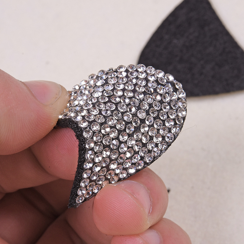 Detail Feedback Questions about 10PCS Sparkling Rhinestone CAT EAR ... 710328bf1421