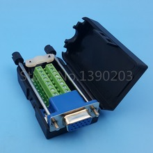 DB15 VGA Female 3 Rows 15 Pin Plug Breakout Terminals Screw Type DIY Connector