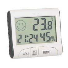 LCD Digital Temperature Tester Wireless Hygrometer Temperature Humidity Meter Room(China)