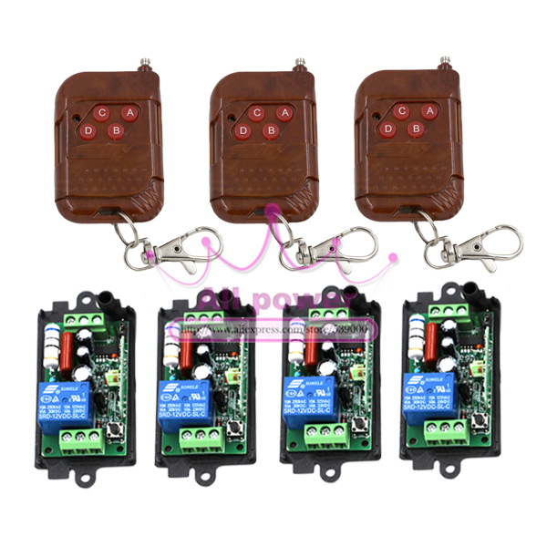 NEW AC220V 1CH RF Wireless Remote Control System / Radio Switch remote switch 220v Learning code receiver hot sales <br>