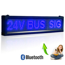 Blue P10 Outdoor Led Advertising Display board , Remote Bluetooth Can Programming Can run Android Scrolling Text Messages(China)