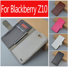 J&R brand Flip Wallet flip pu leather Case Cover for blackberry Z10 with card holder and stander black cover