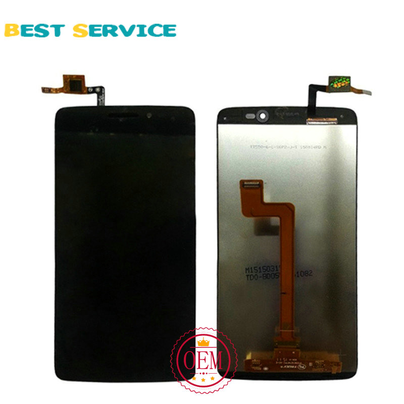 5.5  For Alcatel One Touch Idol 3 6045 OT6045 6045y LCD Screen Display with Touch Screen Digitizer Assembly Black Free Shipping<br><br>Aliexpress