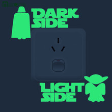 1pcs Home Decor Luminous Switch Stickers 3d Stereoscopic Wall Stickers Children's Room Fluorescent Star Wars Wallpaper