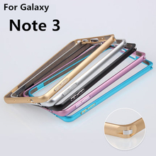 JZ Note3 Bumper metal Gold-Edge Aluminum bumper for Samsung Galaxy Note 3 N900 N9000 ultra thin case luxury cover Free shipping(China)