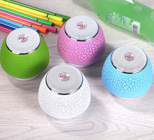 Manufacturer selling new Bluetooth speaker A8 TF card audio portable speakers with flash light and stone pattern surface