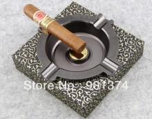 MINI portable Cigar ashtray ( fashion ,glass ,round)for 4 finger -FREE SHIPPING(China)
