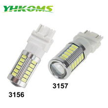 YHKOMS 33 Chips 3156 LED Reverse Light 3157 3057 3155 3357 3457 4157 Bulb Extremely Bright White Amber 360 Degree Lighting Lamp