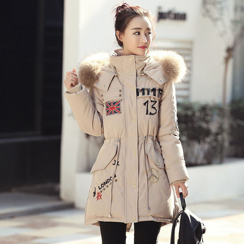 2017 New Winter Clothes Women Duck Down Coat Jacket Warm High Quality  With Raccoon Fur Woman Down Parka Winter Coats