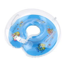 Baby 1pcs Tube Ring Safety Baby Aids Infant Swimming Neck Float Double Protecting Inflatable Circle Toys(China)