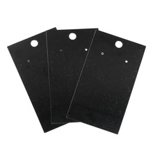 Earring Display Cards Professional Black Earring Ear Studs Holder Hang Cards Black Jewelry Stores Necessities 50PCs 9cm x5cm(China)