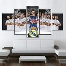5 piece  Canvas Printed Painting is C Ronaldo Real Madrid  Football Poster For Living Picture Wall Art HD Decor Modern Artworks