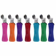 Portable Travel 3 Pcs 1 Set Stainless Steel Cutlery Bag Fork Kit Outdoor Silverware Kitchen Dining