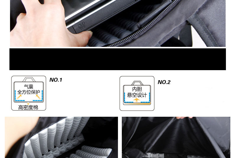 Kingsons Air Shockproof Shoulder Bag Backpack And Laptop Computer Bag Backpack
