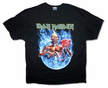 T Shirt Logo Gildan Crew Neck Short Iron Maiden Smoke Circle Tour 2012 Black Ed Mummy New Official Compression Mens T Shirts