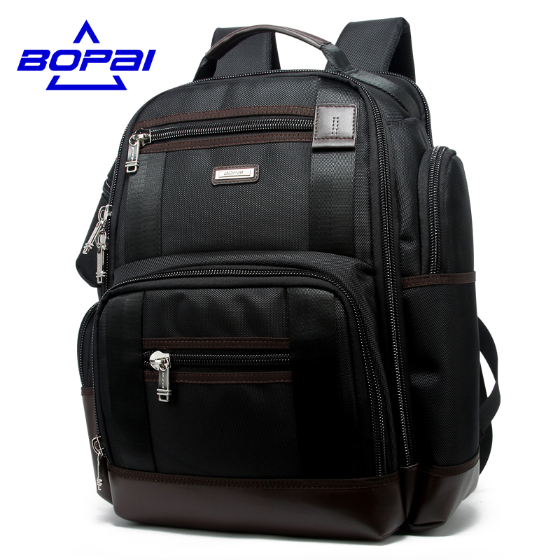 Famous Brand Men Backpack Multi Pocket Travel Backpack Bag Black 14 Inch Computer Bag 15 Inch Laptop Bag Big Rucksack School Bag<br>