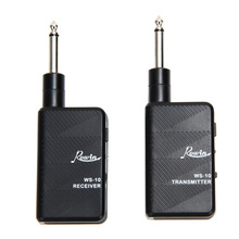 1pcs Guitar Wireless Audio Transmitter Audio Interface Bass Transmitter Receiver Kit Black Digital Electric Guitar Accessories(China)
