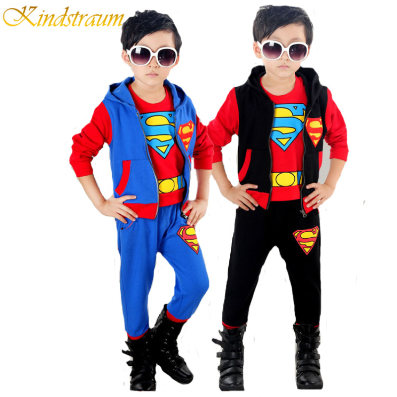 Kindstraum Boys Costumes for Kids Superman 3pcs Boys Clothing Sets for Kids Spring Autumn Kids Sports Sets Casual Twinset, MC393<br><br>Aliexpress